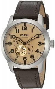 [フォッシル]Fossil 腕時計 Pilot 54 Automatic Dark Brown Leather Watch ME3119 メンズ