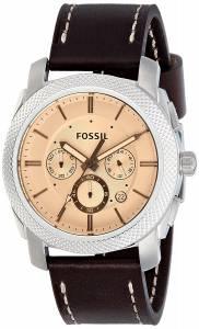 [フォッシル]Fossil 腕時計 Machine Chronograph Dark Brown Leather Watch FS5170 メンズ