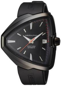 [ハミルトン]Hamilton  Ventura Elvis80 Automatic Black Dial Black PVD Watch H24585331 メンズ