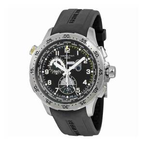 [ハミルトン]Hamilton  Swiss Quartz Stainless Steel and Leather Casual Watch, H76714335