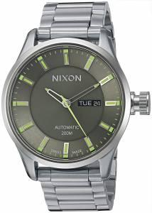 [ニクソン]NIXON  'II' Swiss Stainless Steel Automatic Watch, Color:SilverToned A2092254-00