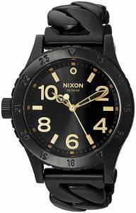 [ニクソン]NIXON  '3820' Quartz and StainlessSteelPlated Watch, Color:Black A4102317-00