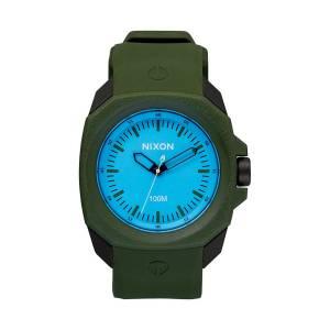 [ニクソン]NIXON 腕時計 Ruckus Blue Dial Green Rubber Watch A3491536 メンズ