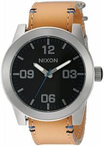 [ニクソン]NIXON 'Corporal, Black / Natural' Quartz Stainless Steel and Leather A243-2299-00