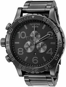 [ニクソン]NIXON  '5130 Chrono' Quartz Stainless Steel Watch, Color:Grey A083-632-00 メンズ