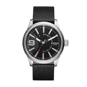 [ディーゼル]Diesel 腕時計 Rasp Stainless Steel Black Leather Watch DZ1766 メンズ