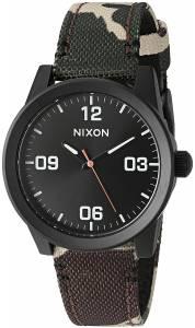 [ニクソン]NIXON  'G.I.' Quartz Stainless Steel and Nylon Watch, Multi Color A964047-00