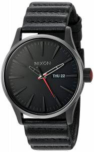 [ニクソン]NIXON 'Star Wars Kylo' Quartz Stainless Steel and Leather Casual Watch, A105SW2444-00
