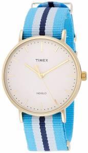[タイメックス]Timex Weekender Fairfield   Blue/White Strap Minimal Dial Casual Watch TW2P91000