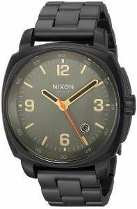 [ニクソン]NIXON  'Charger' Quartz Metal and Stainless Steel Watch, Color:Black A10721032-00