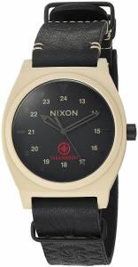 [ニクソン]NIXON  'Time Teller LTD' Quartz Metal and Leather Watch, Color:Brown A11202518-00