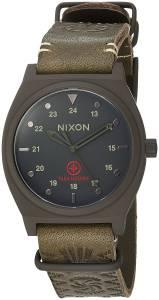 [ニクソン]NIXON  'Time Teller LTD' Quartz Metal and Leather Watch, Color:Brown A11202528-00