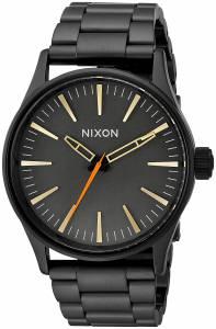 [ニクソン]NIXON 'Sentry 38 SS' Quartz Metal and Stainless Steel Watch, Color:Black A4501032-00