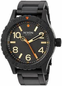 [ニクソン]NIXON  '46' Quartz Metal and Stainless Steel Watch, Color:Black A9161032-00 メンズ