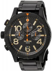 [ニクソン]NIXON  '4820 Chrono' Quartz Metal and Stainless Steel Watch, Color:Black A4861032-00