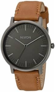 [ニクソン]NIXON  'Porter' Quartz Metal and Leather Watch, Color:Brown A10582494-00 メンズ