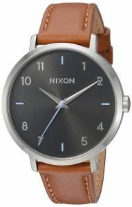 [ニクソン]NIXON  'Arrow' Quartz Metal and Leather Watch, Color:Brown A1091019-00