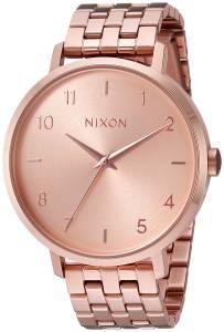 [ニクソン]NIXON  'Arrow' Quartz Metal and Stainless Steel Watch, Color:Rose A1090897-00