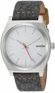 [ニクソン]NIXON  'Time Teller' Quartz Metal and Cloth Watch, Color:Grey A0452476-00