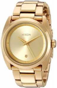 [ニクソン]NIXON  'Queenpin' Quartz Metal and Stainless Steel Watch, Color:GoldToned A935502-00