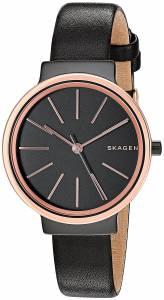 [スカーゲン]Skagen 腕時計 Ancher Black Leather Watch SKW2480 レディース