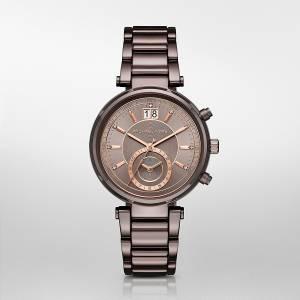 [マイケル・コース]Michael Kors 腕時計 Sawyer GoldTone Chronograph Watch Bronze MK6393