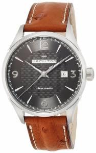 [ハミルトン]Hamilton Jazzmaster Viewmatic Auto Black/Brown Leather Analog Automatic H32755851