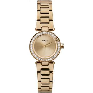 [タイメックス]Timex  Starbright Crystal Dial GoldTone Case & Band Dress Watch T2P540
