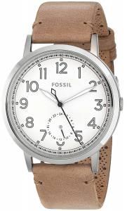 [フォッシル]Fossil  Quartz Stainless Steel and Leather Watch, Color:Brown ES4060
