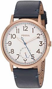 [フォッシル]Fossil  Quartz Stainless Steel and Leather Watch, Color:Blue ES4062