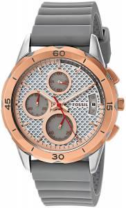 [フォッシル]Fossil  Quartz Stainless Steel and Silicone Watch, Color:Grey ES4042