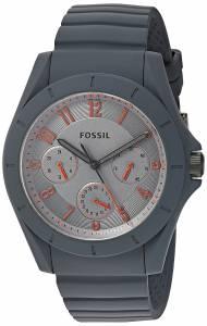 [フォッシル]Fossil  Quartz Rubber and Silicone Casual Watch, Color:Grey FS5221 メンズ
