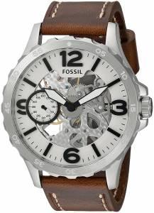 [フォッシル]Fossil  Stainless Steel and Leather Automatic Watch, Color:Brown ME3128 メンズ