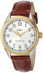 [タイメックス]Timex 'Main Street Collection' Quartz Brass and Leather Casual TW2P995009J