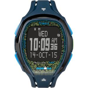 [タイメックス]Timex Ironman? Sleek 150 Tapscreen FullSize Resin Strap Blue/Lime 43163283