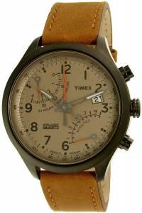 [タイメックス]Timex  Intelligent Quartz Gunmetal Leather Quartz Watch TW2P78900 メンズ