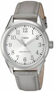 [タイメックス]Timex  'Main Street Collection' Quartz Brass and Leather Watch, TW2P994009J