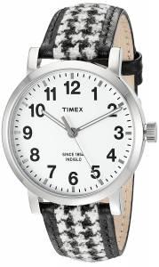 [タイメックス]Timex  'Originals' Quartz Brass and Leather Watch, Color:Black TW2P98800ZA
