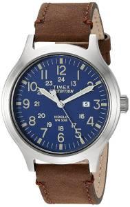 [タイメックス]Timex TW4B06400 Expedition Scout 43 Brown/Blue Leather Strap Watch TW4B064009J