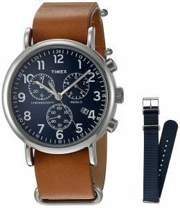 [タイメックス]Timex 腕時計 Analog Quartz Brass Brown & Blue Weekender Watch TWG012800QM