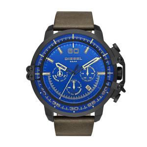 [ディーゼル]Diesel 腕時計 Deadeye Black Ip Brown Leather Watch DZ4405 メンズ