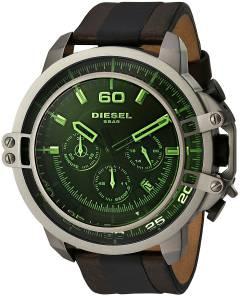 [ディーゼル]Diesel 腕時計 Deadeye Gunmetal Brown Leather Watch DZ4407 メンズ