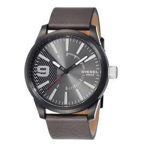 [ディーゼル]Diesel 腕時計 Rasp Black Leather Watch DZ1776 メンズ [並行輸入品]