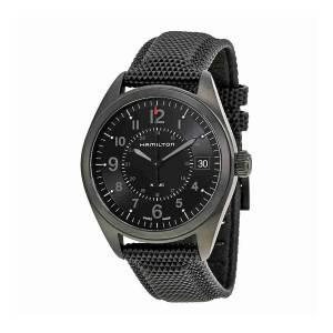 [ハミルトン]Hamilton  Khaki Field Quartz Black / Black Rubber Analog Quartz Watch H68401735