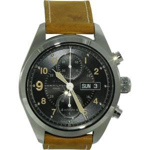 [ハミルトン]Hamilton Brown Leather Automatic Stainless Steel Case Watch Hamilton-H71616535