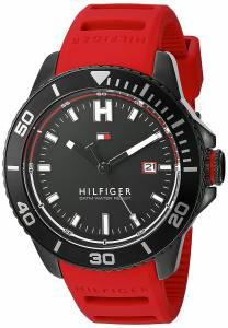 [トミー ヒルフィガー]Tommy Hilfiger  Quartz Metal and Silicone Watch, Color:Red 1791264