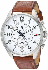 [トミー ヒルフィガー]Tommy Hilfiger Quartz Stainless Steel and Leather Watch, 1791274