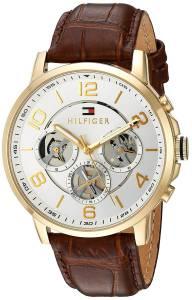 [トミー ヒルフィガー]Tommy Hilfiger Quartz GoldTone and Leather Casual Watch, 1791291