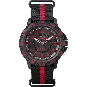 [タイメックス]Timex TW4B05500 Expedition Gallatin Black/Red Nylon SlipThru Strap TW4B05500JV