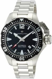 [ハミルトン]Hamilton  Khaki Navy Frogman Automatic Black Dial Watch H77605135 メンズ